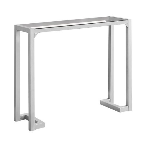 Monarch Specialties Inc. Tempered Glass Hall Console Table ...