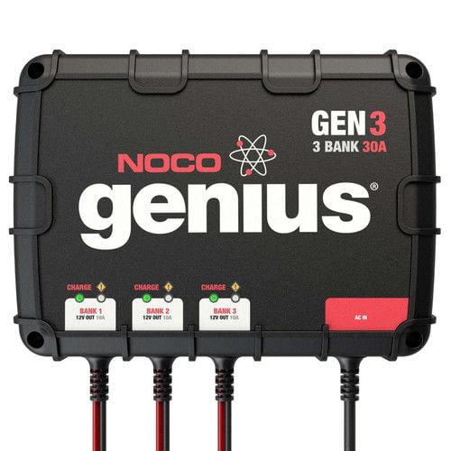 NOCO Genius GEN3 30-Amp 3-Bank Onboard Battery Charger