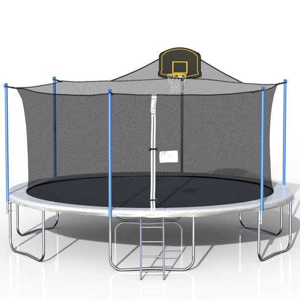 2020 Christmas Trampoline Kids Trampolines with Basketball Hoop 16FT Trampoline Activity