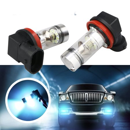 TSV One Pair 8000K High Power H8 H11 LED Fog Driving Light DRL 100W Lamp Bulb Ice Blue (Djl Lamp)