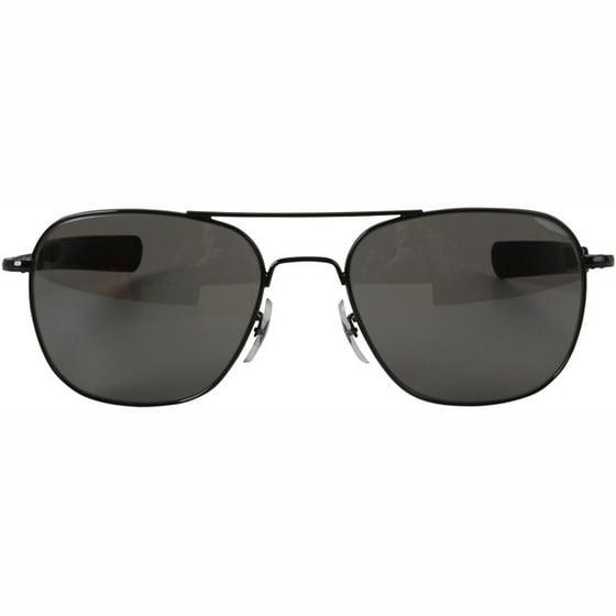 547b41546ab24 AO Original Pilot Sunglasses with 57mm Bayonet Temples and True Color Gray  Glass Lenses - Walmart.com