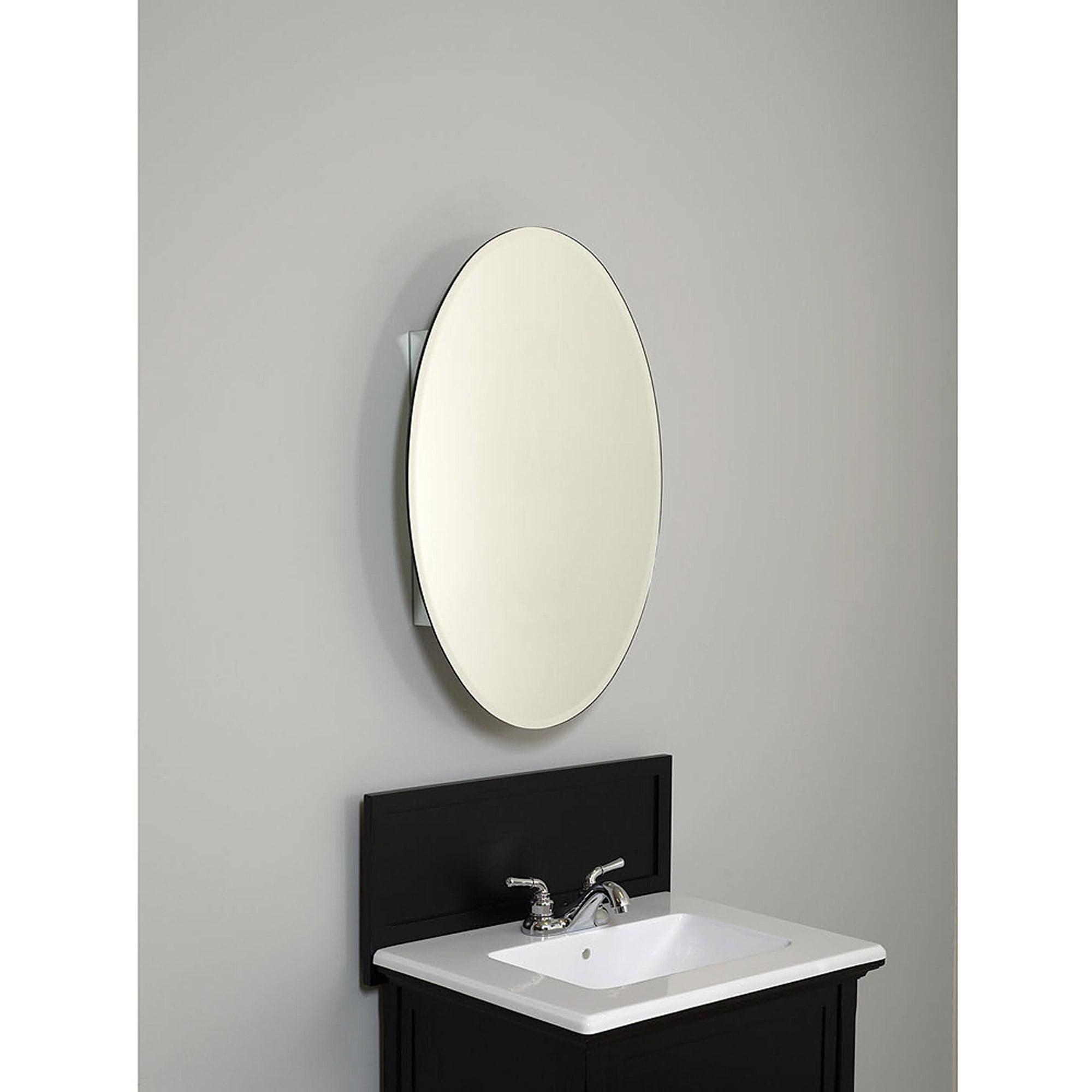 Designer Series Frameless Oval Medicine Cabinet Walmart