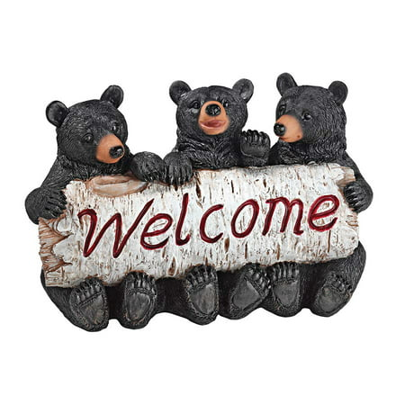 Design Toscano Black Bear Cubs Welcome Statue ()