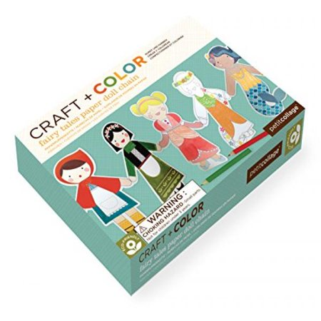 Petit Collage Paper Doll Chain Craft and Color, Fairy Tales ()