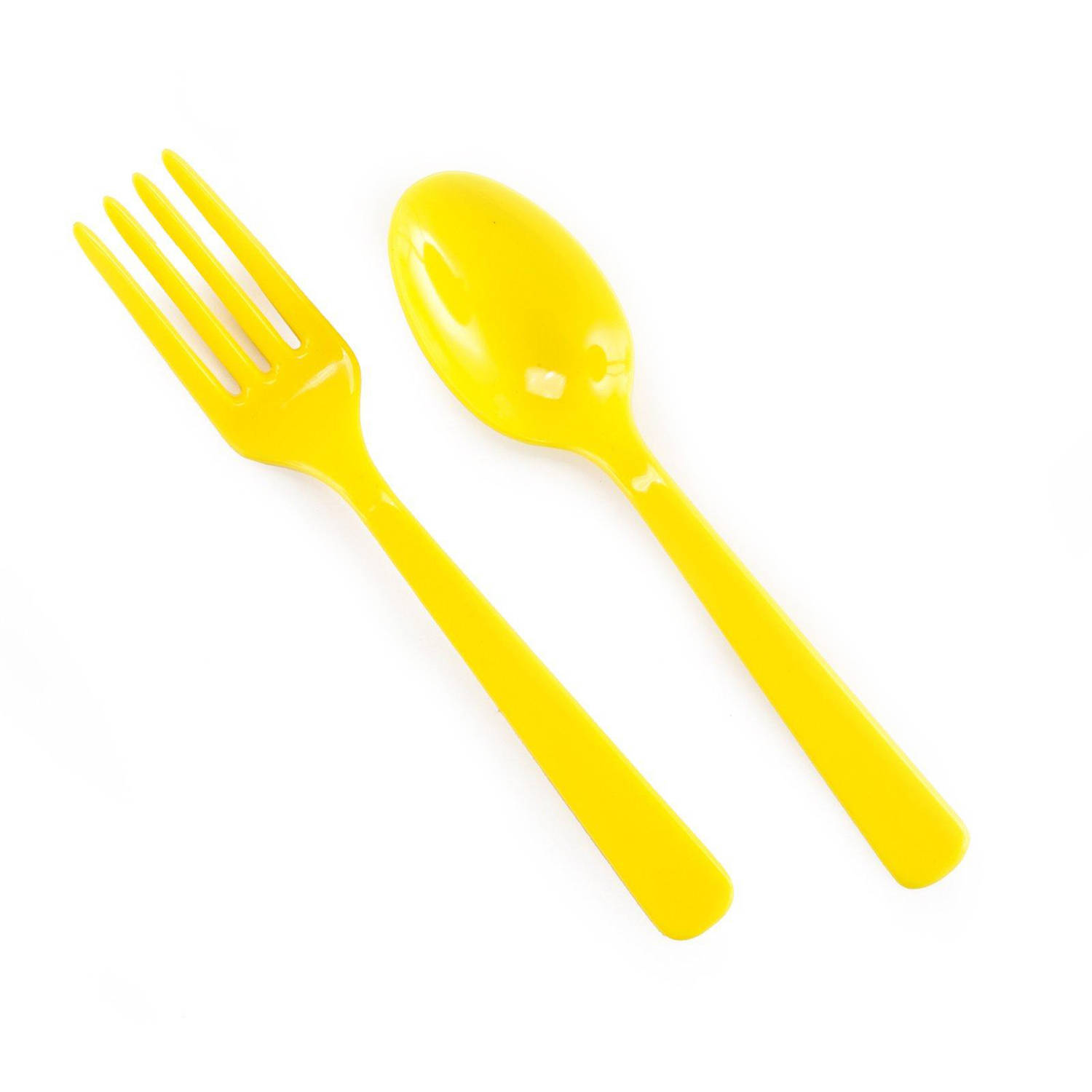 Forks and Spoons, Yellow, 8pk - Walmart.com