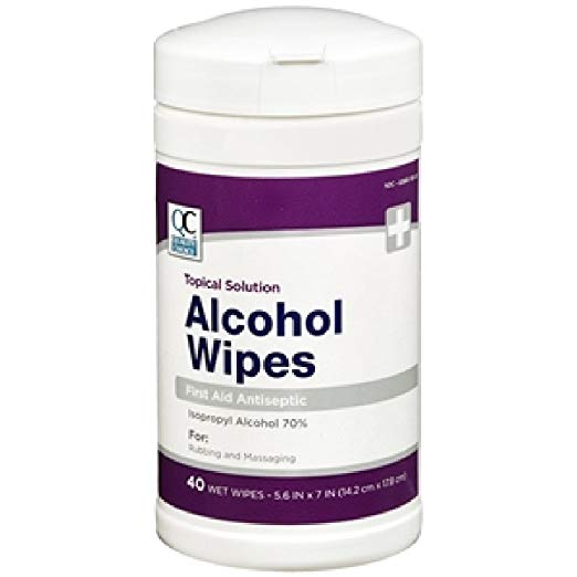 4 Pack Quality Choice Alcohol Wipes first Aid Antiseptic 40 Count Each