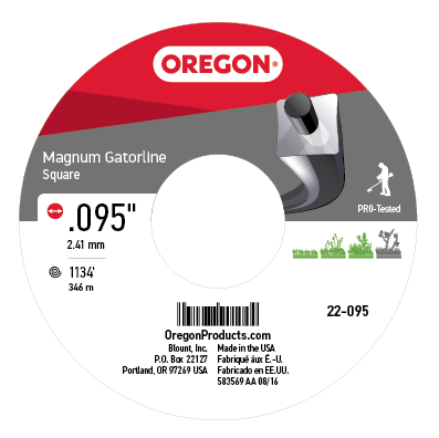 Magnum Gatorline Square Trimmer Line .095 5LB SPL