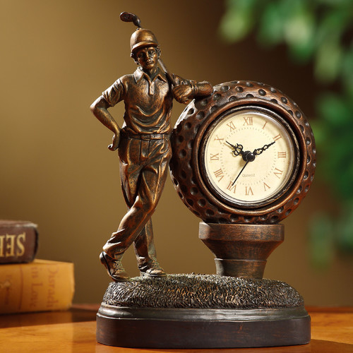 Crestview Collection Golfer Clock by Crestview Collection