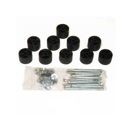- Daystar PA732 Body Lift Kit; 2 in. Lift; Incl. Blocks; Extension Brackets; All Required Hardware;