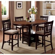 A Line Furniture Splendor Counter-height Chestnut/ Espresso 5-piece Dining Set