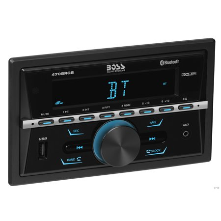 Boss Audio 470BRGB In-dash Double-din, Mech-less Multimedia Player Mp3 Compatible/bt/am/fm Stereo W/usb Charger - 60w X