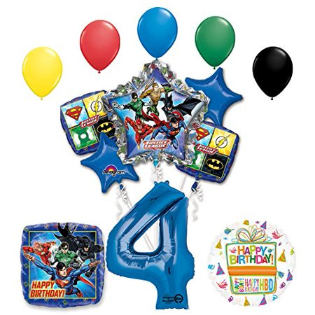 The Ultimate Justice League Superhero 4th Birthday Party Supplies