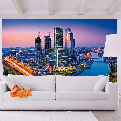 Brewster Home Fashions Ideal Decor Moscow Twilight Wall Mural