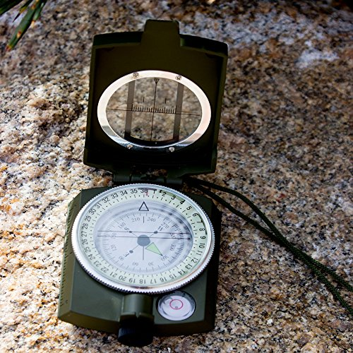 Best Sighting Compass For Camping Military Grade Survival & Mapping Gear by Under Control Tactical