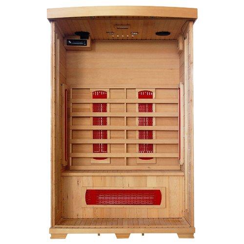 Radiant Saunas 2-Person Hemlock Deluxe Infrared Sauna w  5 Ceramic Heaters by RADIANT