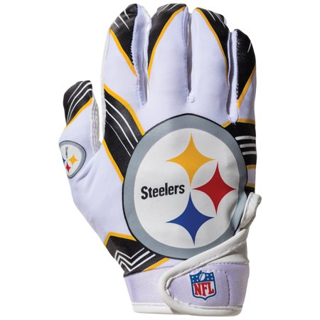 b04b973b04e Franklin Sports NFL Pittsburgh Steelers Youth Football Receiver Gloves -  Walmart.com