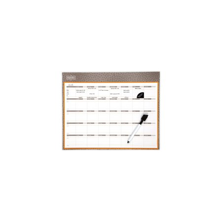 Mead Organizher Write 'N Wipe Monthly Undated Dry-Erase Calendar, 15 x 12 Inches, Gray (Printable Calendar With Lines To Write On 2017)