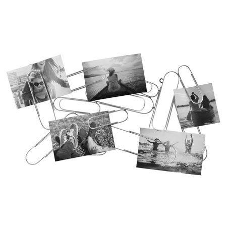 Mainstays 10x18 Silver Metal Paperclip Photo Display ()