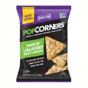 Popcorners Cheesy Jalapeno Popped Corn Chips 1.1 oz Bags - Pack of 40