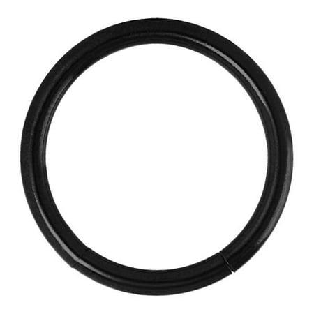 Black Titanium Segment Rings - Black Titanium-Plated Seamless Segment Captive Ring
