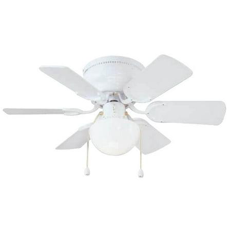 Boston Harbor Cf 78108 Hugger Low Profile Ceiling Fan  6 Blade  White