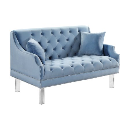 Meridian Furniture Inc Roxy Tufted Loveseat with Nailhead -