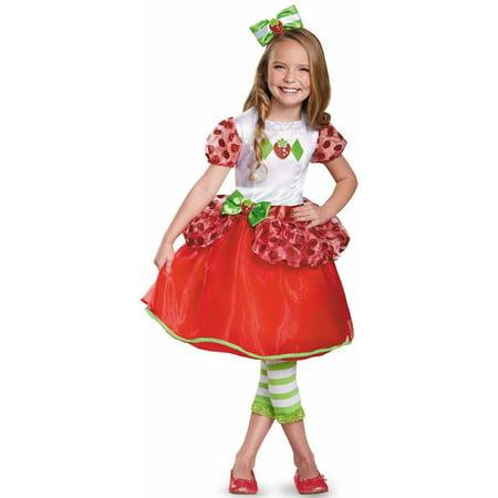 STRAWBERRY SHORTCAKE DELUX 4-6 (Girls Strawberry Shortcake Costume)