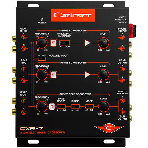 Cadence CXR7 3-Way Electronic Crossover with 7 Volt Line Driver