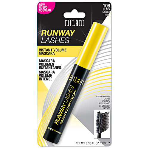 Milani Runway Lashes Volumizing & Lengthening Black Mascara, .3 oz