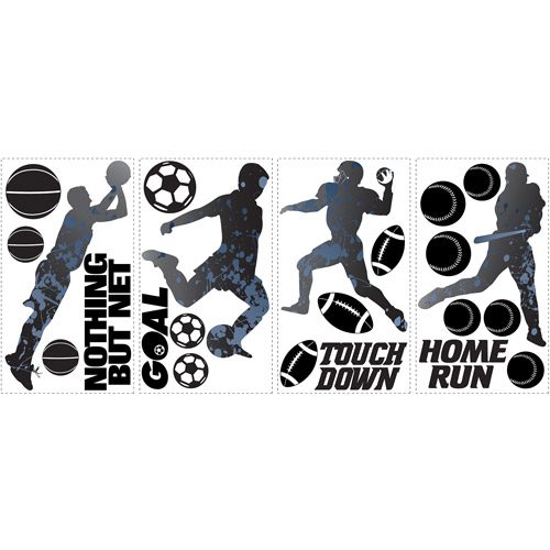RoomMates Sports Silhouettes Peel and Stick Wall Decals