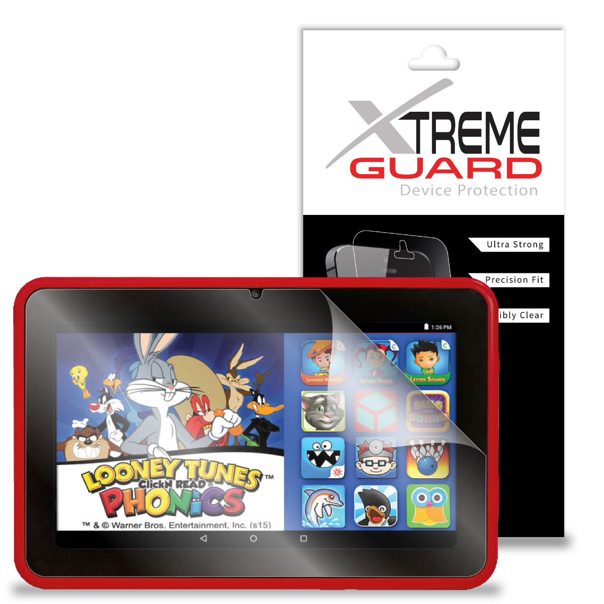 "XtremeGuard Screen Protector For EPIK Learning Tab 7"" Kids Tablet 16GB Intel Atom"