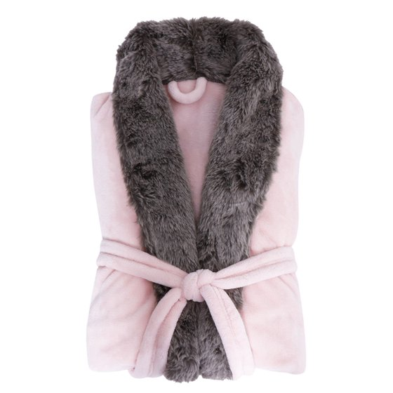 ... fleece keeps you comfortable and cozy Features an adjustable belt tie  and roomy side pockets perfect for warming up the hands Beautiful faux fur  trim ... f8d4ac9d7