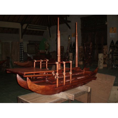 Hokulea Replica Double Hull Canoe 80  X 48     Bla6053