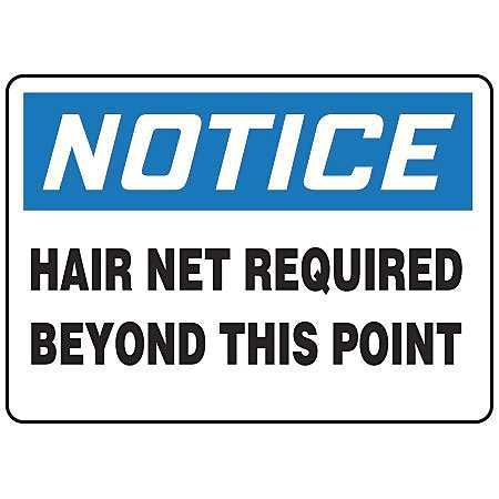 "Notice Sign, Accuform Signs, MPPE888VS, 10""Hx14""W"