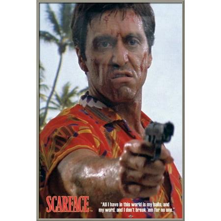 Scarface Framed Movie Poster Print Al Pacino Hawaiian Shirt