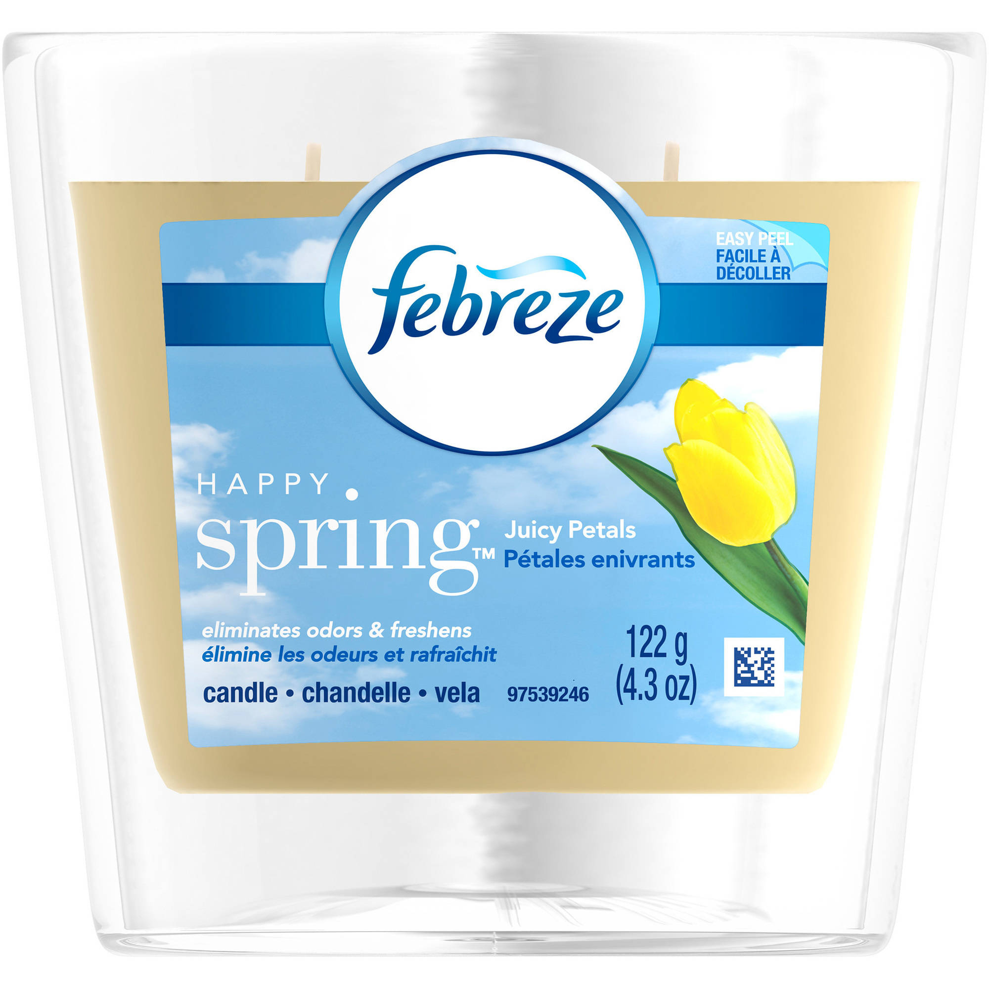 Febreze Happy Spring Juicy Petals Air Freshener Candle, 4.3 oz