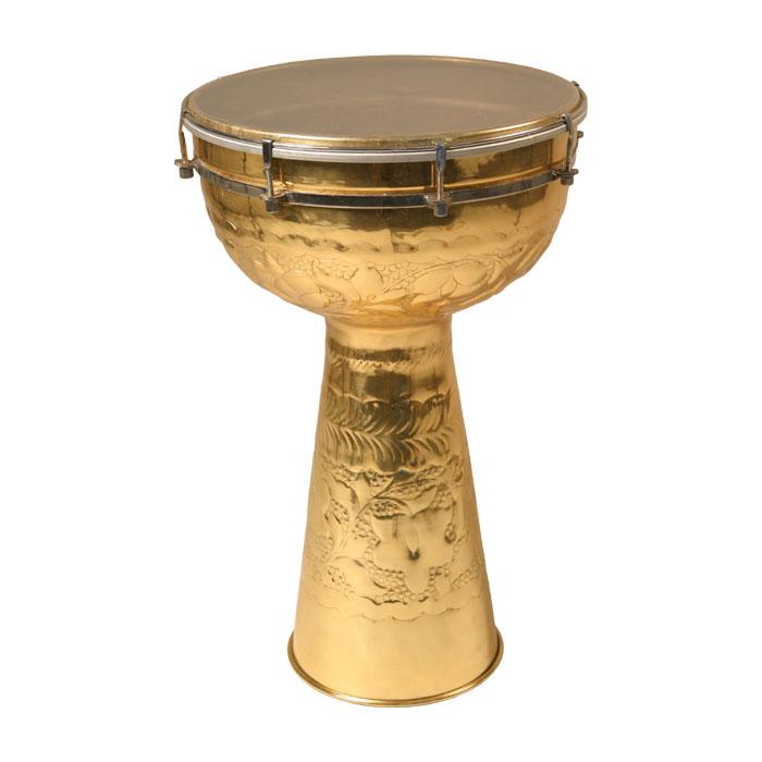 Mid-East MB12S Brass Doumbek Drum