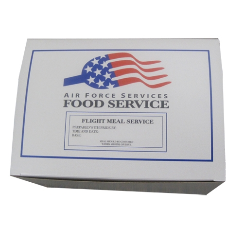 Southern Champion, Takeout Box - Air Force Food Services, 9.75in x 7in x 6in