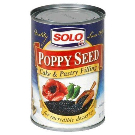 SOLO - Poppy Seed Filling, 12.5 OZ, Pack of 3