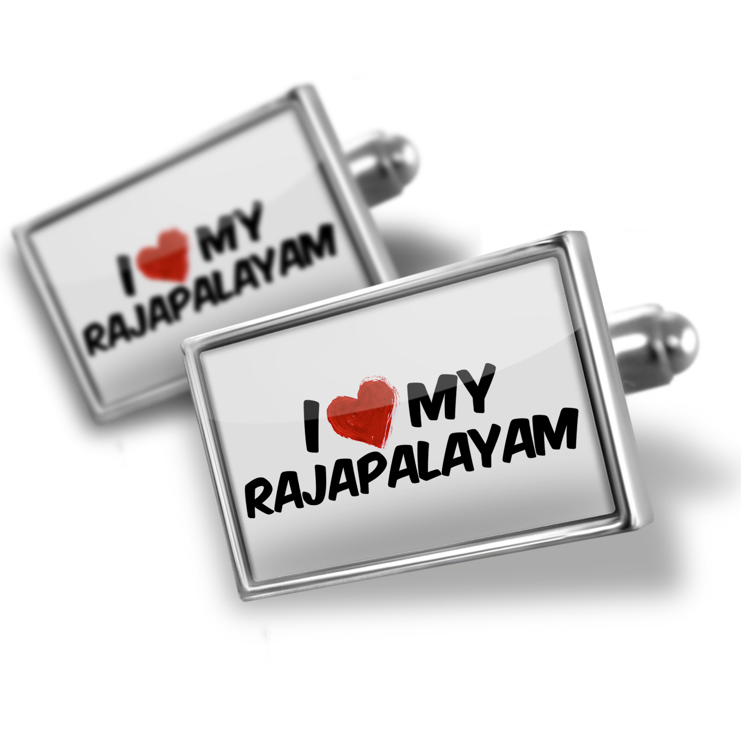 Cufflinks I Love my Rajapalayam Dog from India - NEONBLOND