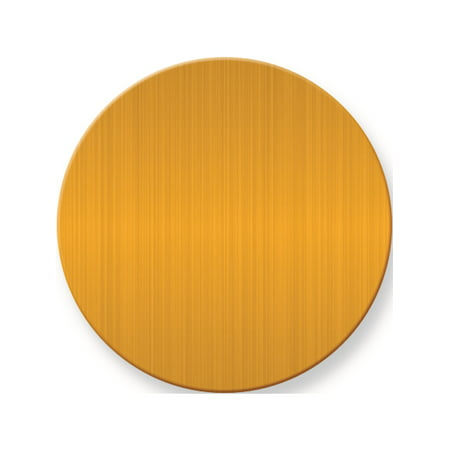 1 1/2  x 1 1/2 Round Satin Brass Plates-Sets of 6 (1.5x1.5mm) - image 1 of 1
