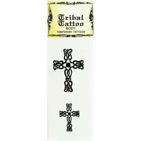 Temporary Cross Tattoo Body Tribal Tattoo (Celtic Cross)