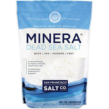 Minera Dead Sea Salt To Relieve Psoriasis Eczema & Acne (Bulk 10Lb Bag) Bath Sea Salt Bag