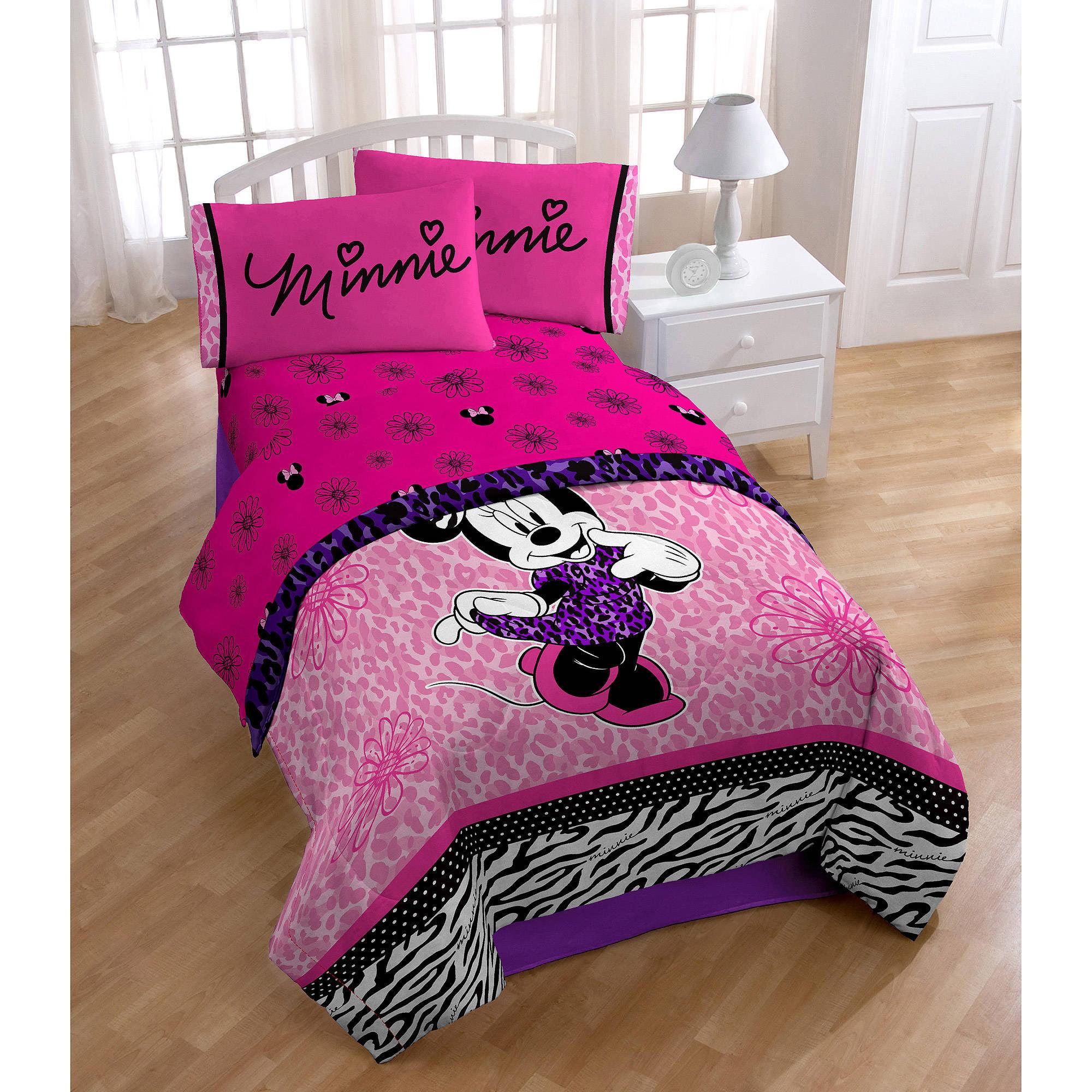 Disney Minnie Mouse Diva Sheet Set Pink Walmart Com Walmart Com