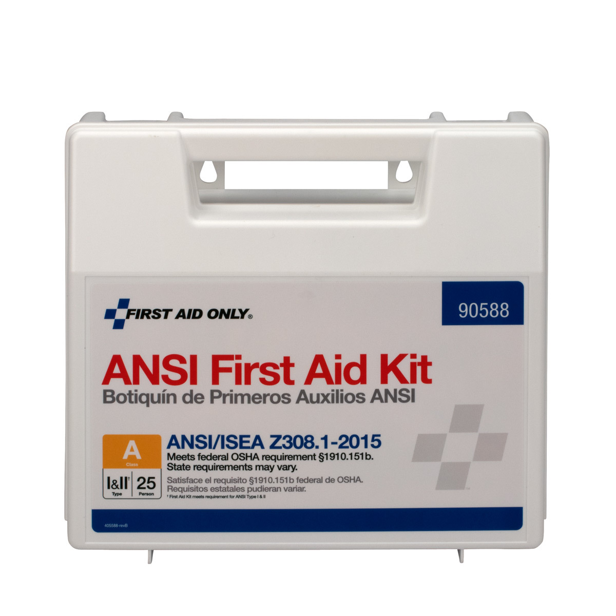 First Aid Only 25 Person ANSI First Aid Kit, Plastic, 89 Pc