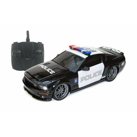 2.4Ghz Radio Remote Control 1/18 Ford Mustang Shelby GT500 Super Snake Police RC Car