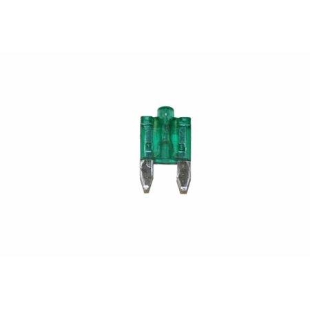 Jt&T Products (11-1005) - 30 Amp, Smart Glow Mini-Fuses, Green, 2 Pcs. (Glow Product)