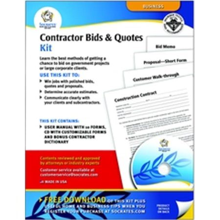 adams pk113 contractor bids quotes 44 forms and instructions