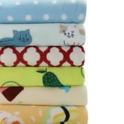 "Mainstays Fleece Plush Throw Blanket, 50"" x 60"", Ice Cream, 2-Pack"