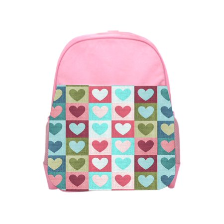 Quilted Heart Box (Quilted Hearts Pink Girls Preschool Toddler Backpack & Lunch Box Set )